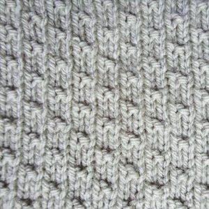 Dot Stitch knitting pattern wrap with love